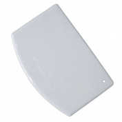 White Plastic Dough and Bowl Scraper - 5-pack