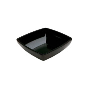Delfin 4l. Black Rectangular Metro Bowl