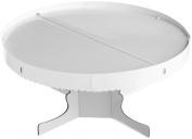 Round Pedestal Cake Stand-White 34cm x 15cm