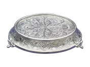 Glittering Silver Wedding Cake Stand Tapered 35.6cm Round