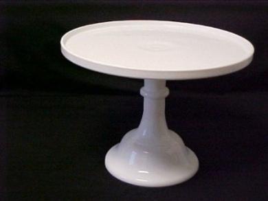 254cm white milk glass cake stand plate bakery grade