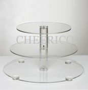 3 Tier Large Maypole Wedding Acrylic Cupcake Stand Tree Tower Cup Cake Display