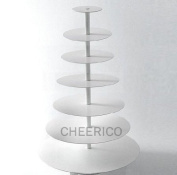 7 Tier White Round Wedding Acrylic Cupcake Stand Tree Tower Cup Cake Display Dessert Tower