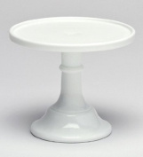 22.9cm White Milk Glass Cake Stand Plate Bakers Quality Made in Ohio