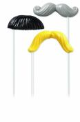 Wilton 2115-2118 Moustache Fun Face Lollipop Moulds