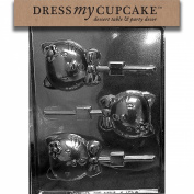 Dress My Cupcake DMCK127 Chocolate Candy Mould, Kitty Kat Hello Lollipop
