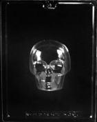 MEDIUM 3-D SKULL FRONT CHOCOLATE CANDY mould
