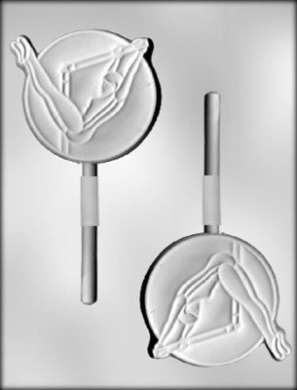 CK Products 10.2cm Gymnast Sucker Chocolate Mould