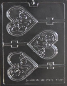 BE MINE LARGE HEART LOLLY CHOCOLATE CANDY mould