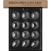 Dress My Cupcake DMCS088 Chocolate Candy Mould, Ball Assorted Baseball/Soccer/Football, Sports