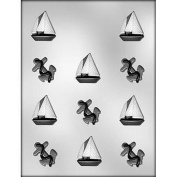CHOC mould ANCHOR AND SAILBOAT 4.1cm CH15333