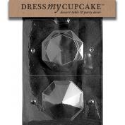 Dress My Cupcake DMCW026 Chocolate Candy Mould, Large 3D Diamond, Wedding