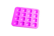 Siliconezone 16-Cup Choko Heart Chocolate Mould, Pink