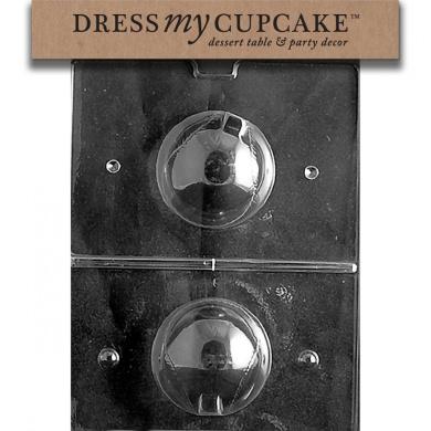 Dress My Cupcake DMCS030 Chocolate Candy Mould, Baseball 3D