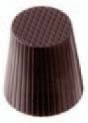 Chocolate Mould Fluted Cup 30mm Diameter x 35mm High, 35 Cavities