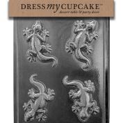 Dress My Cupcake DMCA133 Chocolate Candy Mould, Lizard