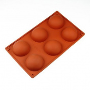 Wholeport 6-Cavities Semi-circle Ball Shape Cake Mould Silicone