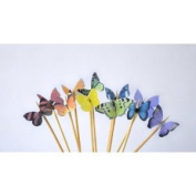 Edible Butterflies © - Mini Assorted Rainbow Set of 48 - Cake and Cupcake Toppers, Decoration