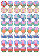 48 Peppa Pig Cupcake Wafer Toppers