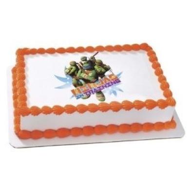 New Ninja Turtles Edible Cake Image Topper