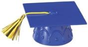 Blue Graduation Cap with Tassel Cake Topper