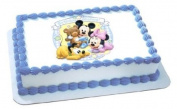 Disney Babies Mickey & Minnie Birthday Wishes Edible Image Cake Decoration