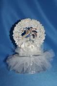 Anniversaries of Love - 25th Anniversary Cake Topper
