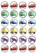 24 Disney Cars Cupcake Wafer Toppers