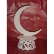 Cake Top Stand Accessories Plastic Moon Back & Base