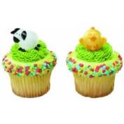 12 ~ Chick & Lamb Ring ~ Designer Cake/Cupcake Topper
