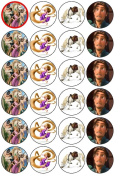 24 Disney Tangled Cupcake Wafer Toppers