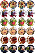 24 Muppets Cupcake Wafer Toppers