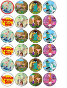 24 Phineas and Ferb Cupcake Wafer Toppers