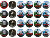24 Thomas the Tank Engine Cupcake Wafer Toppers