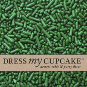 Dress My Cupcake DMC27135 Decorating Sprinkles Jimmies for Cakes, 90ml, Green