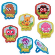 MOSHI MONSTER High (12) Cupcake RINGS Toppers Favours Cake Pop Decorations