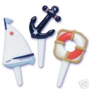 Nautical Sailboat Anchor Ship Ocean Yacht Club (12) Party Cupcake Pics Picks