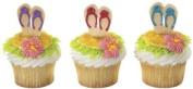 SANDALS Flip Flops LUAU Tropical Hawaiian Beach Party (12) Cupcake PICS Picks