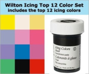 Wilton 12 Icing Colour Set 12 30ml Containers Of Icing Colour Gel