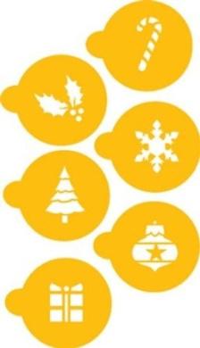 Designer Stencils Holiday Cupcake/Cookie Stencil Tops