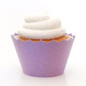 Glitter Orchid Purple Sparkling Cupcake Wrappers - Set of 12 - Shimmering Favour Gifts All Celebrations