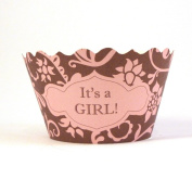 Bella Couture It's a Girl Cupcake Wrappers
