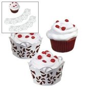 Laser-Cut Peppermint Cupcake Collars & Cups - Candy & Snack Foods