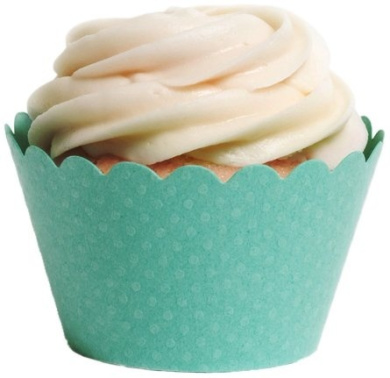 Dress My Cupcake Standard Tiffany Aqua Blue Cupcake Wrappers, Set of 100