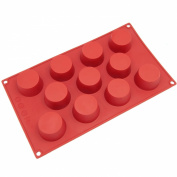 Freshware 11-Cavity Mini Cheesecake, Pudding and Muffin Silicone Mould and Baking Pan