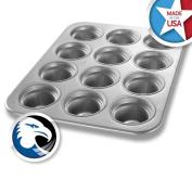 Chicago Metallic Glazed Aluminium Large-Crown 12 Cup Muffin Pan