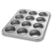 Chicago Metallic Glazed Aluminized Steel 12 Cup Jumbo Muffin Pan
