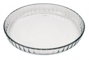 Marinex Glass Fluted Flan or Quiche Dish, 26.7cm