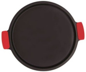 SuperStone® 33cm Deep-Dish Non-Stick Pizza Stone with Easy-Grip Silicone Handles