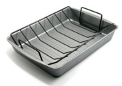 OvenStuff Non-Stick 17.2 by 12.7 by 6.9cm Large Roasting Pan with Rack